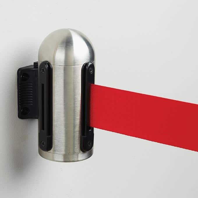 Securit Crowd Control Wall Mounted Retractable Barrier Systems American Metalcraft