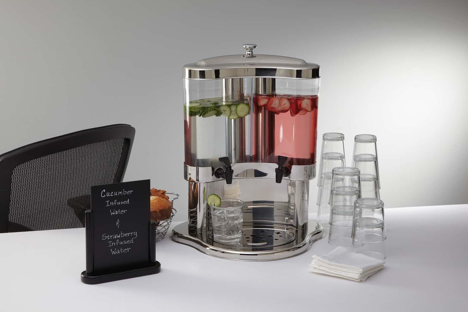 Juice Dispensers Dual Juice Dispenser American Metalcraft
