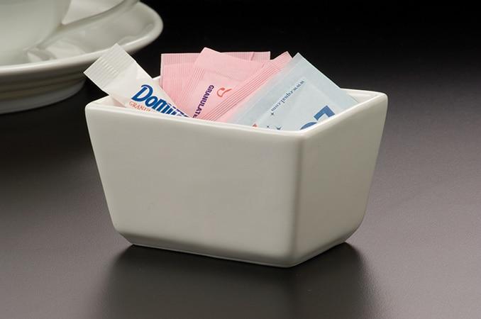 Coffee Service Ceramic Sugar Packet Holder American