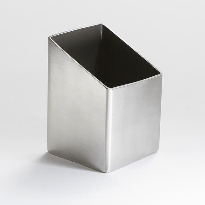 Satin Finish Stainless Steel Bud Vase Sugar Packetcube Holders