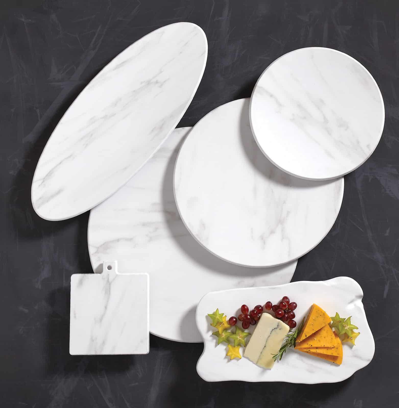 Melamine White Marble Melamine Serving Boards American